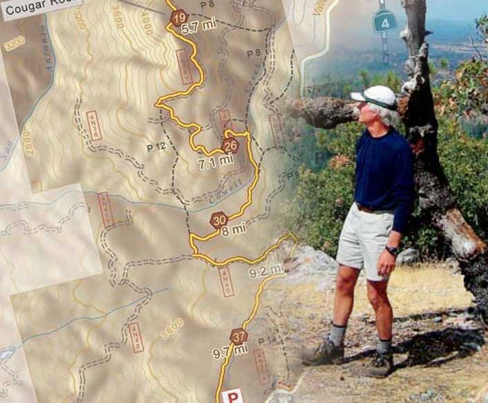 Arnold Rim Trail Map